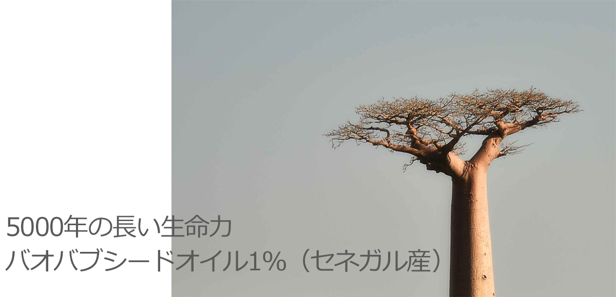 5000年の長い生命力 バオバブシードオイル1%(セネガル産)